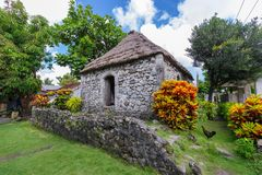 Traditionelles Steinhaus in Batan-Insel, Batanes Lizenzfreies Stockfoto