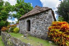 Traditionelles Steinhaus in Batan-Insel, Batanes Stockfotografie