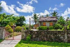 Traditionelles Steinhaus bei Ivana Island, Batanes Stockbild