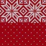 Traditionelles strickendes Muster für hässliche Strickjacke Stockbild