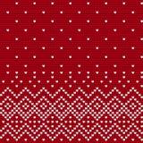 Traditionelles strickendes Muster für hässliche Strickjacke Lizenzfreies Stockbild