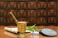 Traditionelles System der chinesischen Medizin stockbilder
