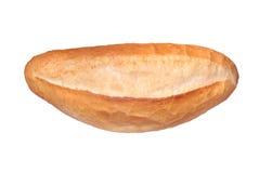 Traditionelles türkisches Brot (Somun-Brot) Isaolated auf Weiß stockfotografie