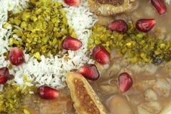 Traditionelles türkisches süßes Ashura (Noahs Pudding) lizenzfreie stockfotografie