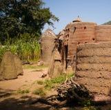 Traditionelles Tammari-Leutedorf von Tamberma bei Koutammakou, das Land des Batammariba, Kara-Region, Togo lizenzfreie stockfotos