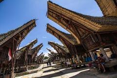 Traditionelles Tana Toraja-Dorf Lizenzfreie Stockbilder