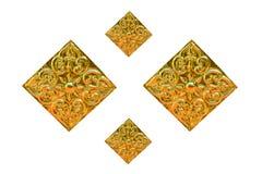 Traditionelles thailändisches Artkunstgoldmalereimuster Stockfotos
