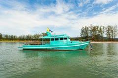 Traditionelles thailändisches Boot des langen Schwanzes mit Stockfotos