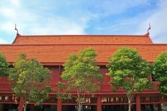 Traditionelles thailändisches hölzernes Haus. Stockbild