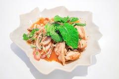 Traditionelles thailändisches Lebensmittel rief Pork Namtok an Stockfotos