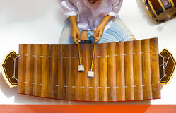 Traditionelles thailändisches Xylophon-Instrument Ranat Ek Stockfotografie