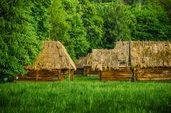 Traditionelles ukrainisches Dorf Stockfotos