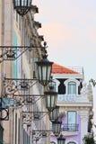Traditionelles und Wohngebäude Stockfotos