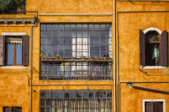 Traditionelles venetianisches Haus Stockfotos
