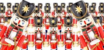 Traditionelles Weihnachten, das Soldaten Decorations trommelt Lizenzfreies Stockfoto