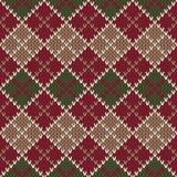 Traditionelles Weihnachtsstrickjacken-Design Nahtloser Argyle Knitted Pa Lizenzfreies Stockbild