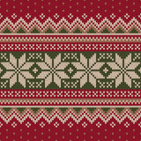 Traditionelles Weihnachtsstrickjacken-Design Nahtloses Muster Stockbilder
