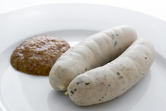 Traditionelles Weisswurst Stockfotografie