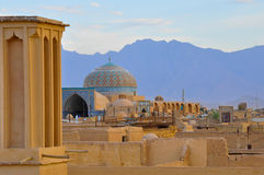 TRADITIONELLES WINDCATHER IN YAZD Stockfoto