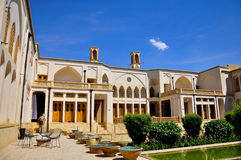 TRADITIONELLES WOHNgebäude IN YAZD Lizenzfreies Stockbild