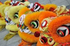 traditionellt år för kinesisk egenskap för lion ny Arkivbilder