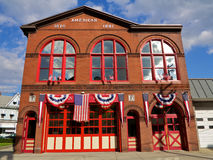 Traditionellt amerikanskt brandhus Fotografering för Bildbyråer