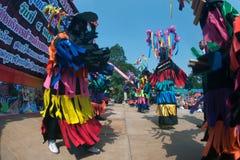 Traditionellt av Phi Khon Nam Festival i Thailand Arkivfoton
