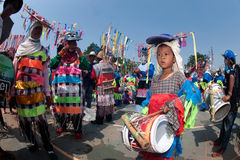 Traditionellt av Phi Khon Nam Festival i Thailand Arkivfoto