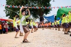 Traditionellt av Phi Khon Nam Festival i Thailand Royaltyfri Foto