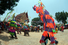 Traditionellt av Phi Khon Nam Festival i Thailand Royaltyfri Fotografi