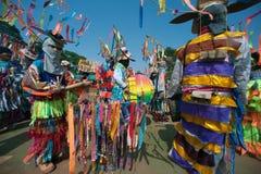 Traditionellt av Phi Khon Nam Festival i Thailand Royaltyfria Foton