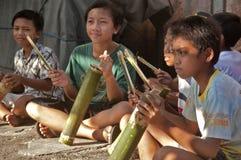 Traditionellt Balinesemusikinstrument (kulkul) Fotografering för Bildbyråer