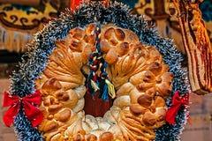 Traditionellt bröd från Maramures, Rumänien Royaltyfri Fotografi