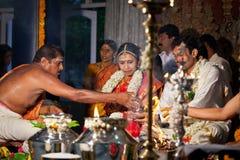 traditionellt bröllop för cerremony indisk tamil royaltyfria foton
