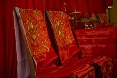 traditionellt bröllop för kinesisk inställning Royaltyfria Foton