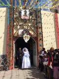 Traditionellt bröllop i Mexico Arkivfoton