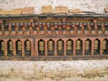 Traditionellt buddhismmantrahjul Arkivfoton