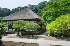 traditionellt byggande Japansk traditionell arkitektur Arkivbilder