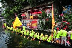 Traditionellt drakefartyg i Guangzhou Fotografering för Bildbyråer