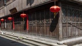 traditionellt för kinesisk lykta för arkitektur rött fotografering för bildbyråer