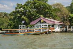 Traditionellt fartyg i Bangkok Royaltyfria Bilder
