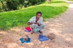 Traditionellt folk i Sri Lanka arkivbild