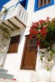 traditionellt grekiskt hus Arkivfoto