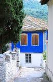 traditionellt grekiskt hus fotografering för bildbyråer