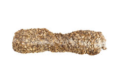Traditionellt helt bröd som isoleras på vit Royaltyfria Bilder