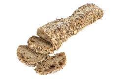 Traditionellt helt bröd som isoleras på vit Royaltyfri Fotografi