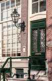 Traditionellt holländskt hus Arkivbilder