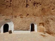 Traditionellt hus av Berbers, Tunisien royaltyfria foton