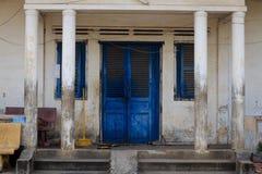 Traditionellt hus i Cambodja Arkivfoto