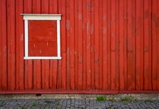 Traditionellt hus i Norge, Europa arkivbilder
